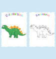 coloring book page for preschool children with vector image