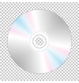 Realistic cd-disk backside vector image