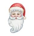 Watercolor head of Santa Claus vector image