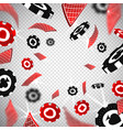 3d holdem poker chips casino cards explosion in vector image