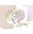 abstract portrait pretty young woman african vector image vector image