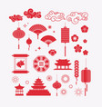 asian elements ses decorative collection vector image