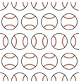 Baseball Seamless pattern with sport balls vector image vector image