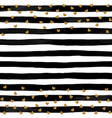 beautiful black and white watercolor striped vector image