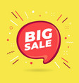 big sale speech bubble vector image