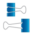 Binder clips on white vector image vector image