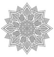 black thin line mandala circular design vector image