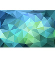 blue and green low poly background vector image vector image