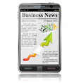 Business news on smart phone vector image