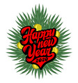 Calligraphic inscription happy new year on the
