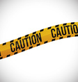 caution icon design vector image vector image