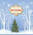 christmas background snow winter landscape vector image