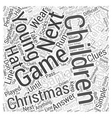 Christmas party games young children Word Cloud vector image vector image