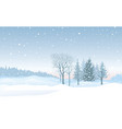 christmas snowfall background snow winter vector image vector image