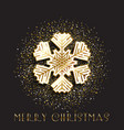 christmas snowflake on a gold glitter background vector image vector image
