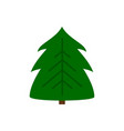 christmas tree new year winter flat icon vector image