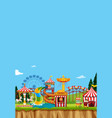 circus scene with many rides at day time vector image vector image