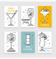 cocktail menu vector image vector image