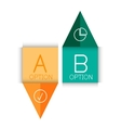 Color paper arrow design template