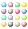 Colorful glossy spheres vector image vector image