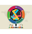 colourful circle vector image vector image