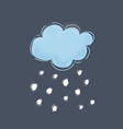cool single weather icon vector image vector image