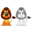 doodle animal for wild lion vector image