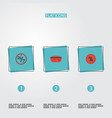 flat icons payment support percentage and other vector image vector image