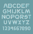 Font set vector image vector image