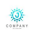 fresh flower letter j logo design vector image vector image