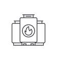 gas boiler line icon concept gas boiler vector image vector image