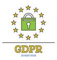 general data protection regulation gdpr padlock vector image