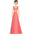 girl in a prom dress vector image