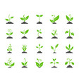 grass simple color flat icons set vector image vector image