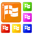 holland flag icons set color vector image vector image