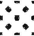 honey bank pattern seamless black vector image vector image