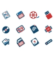 information carriers icons vector image