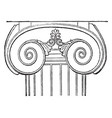 ionic capital the temple of apollo at base vector image vector image