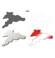 Jura blank detailed outline map set vector image vector image