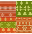 Knitting Pattern set vector image vector image