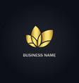 leaf organic nature gold logo vector image vector image