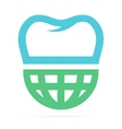 logo combination world and tooth vector image vector image