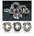 metal roller bearings vector image vector image