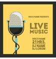 Microphone icon Retro and Music design vector image vector image