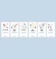 mobile app onboarding screens video marketing vector image vector image