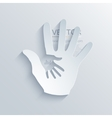 modern hands icon background vector image vector image