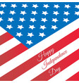 poster design for independence day united states vector image vector image