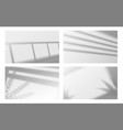 realistic window shadow window frame and louvers vector image vector image