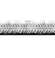 Riepu nospiedums MG 2225 vector image
