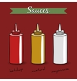 Sauces vector image